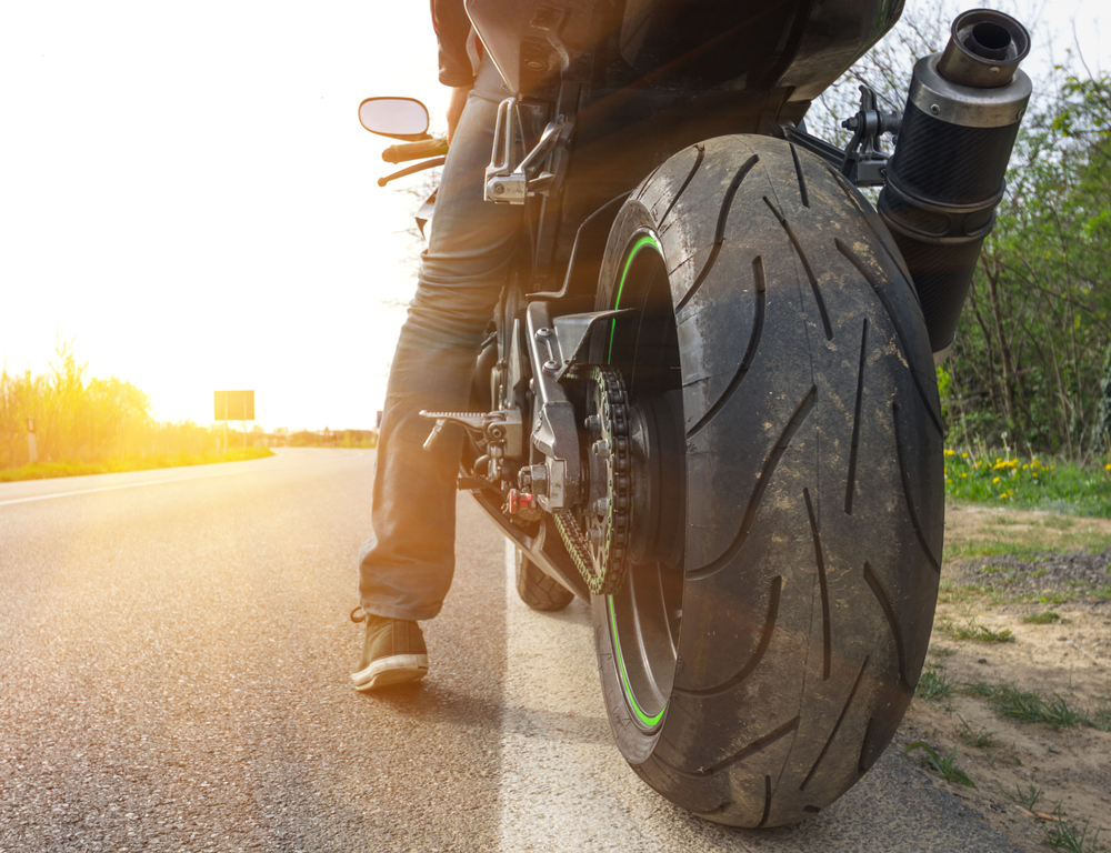 Image of person on motorcycle