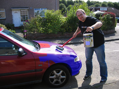 roll on paint for car