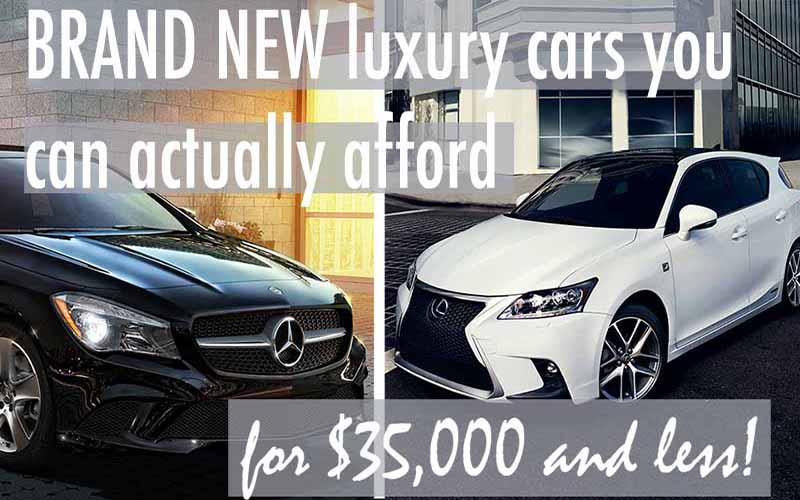 Brand New Luxury Cars You Can Actually Afford for $35,000 or Less