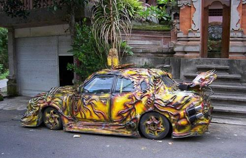 melted-paint-car